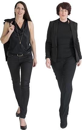 Die Sängerinnen von 2FOUR2: Claudia und Lisa