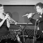 Trompete und Querflöte beim Bandabend