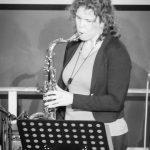 Saxophonistin Miranda beim Bandabend