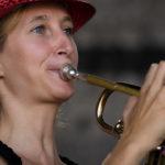 Trompeterin Verena live on stage