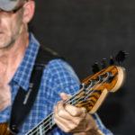 Bassist Sascha live on stage