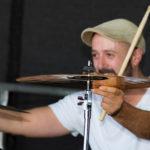 Drummer Jan live on stage